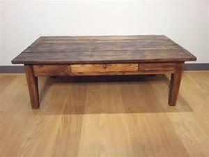 Table Basse En Bois Ancien