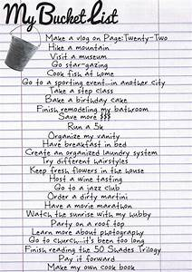 the bucket list essay