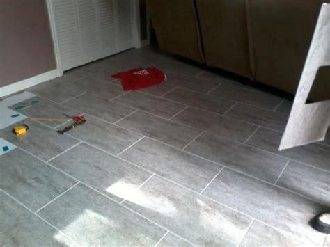 Groutable Vinyl Tile In Bathroom by Trafficmaster Ceramica 12 In X 24 In Groutable Vinyl