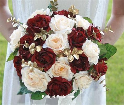 cranberry champagne  gold wedding bouquet burgundy