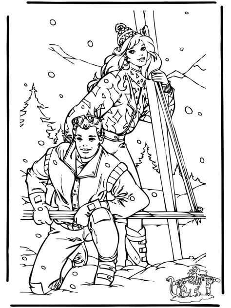 Kleurplaat Skipper by Winter Kleurplaten Sneeuw