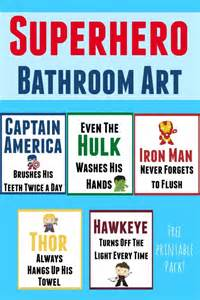 awesome superhero bathroom art for your little superhero