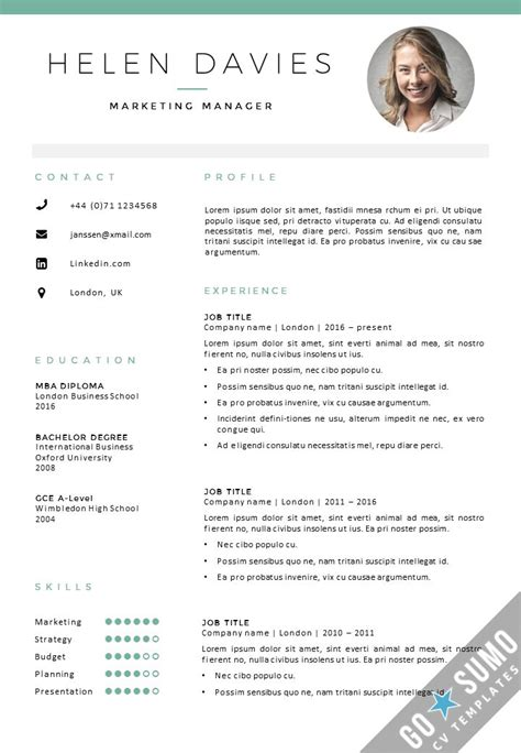 Templates Cv by 49 Best Images About Go Sumo Cv Templates Resume