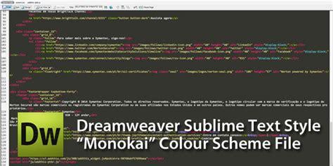 monokai color scheme code view theme color scheme for dreamweaver cs3