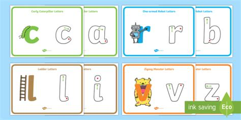 letter formation display posters australia english