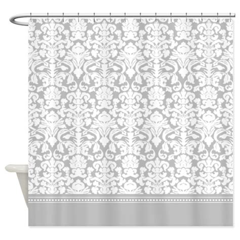 damask shower curtain gray damask shower curtain by inspirationzstore