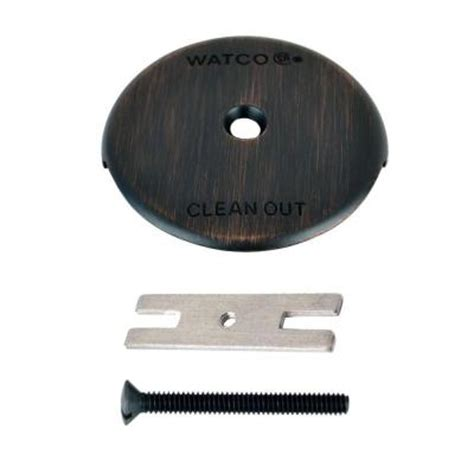 Bathtub Overflow Plate Adapter Bar by Watco 1 Bathtub Overflow Plate Kit Rubbed Bronze
