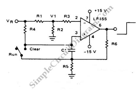 Long Interval Timer Using Amp Simple Circuit Diagram