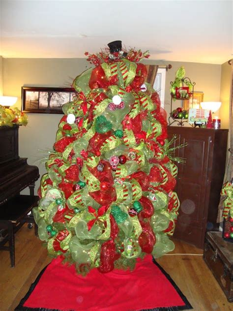 images  christmas trees  deco mesh