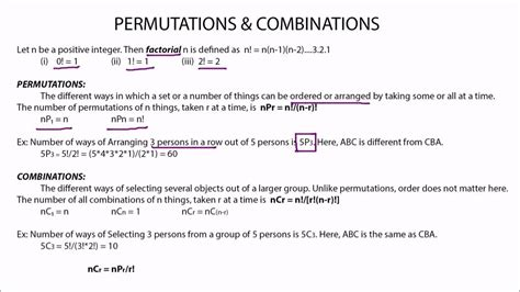 Permutation & Combination Concepts & Tips Youtube