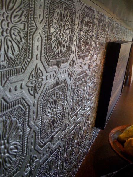 inexpensive counter   backsplash wallpaper tin interior