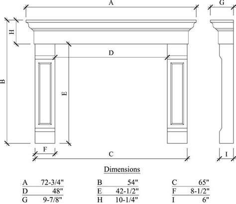 fireplace dimensions fireplace mantels