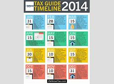 Tax Guide Timeline 2014 Infographic Critical Dates, Deadlines, and Reminders