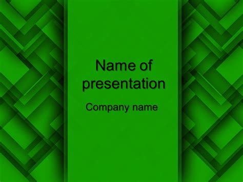 green abstract powerpoint template big apple templates