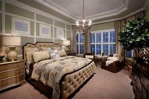 Elegant, Master, Bedroom, Design, Ideas, With, Chandelier, And