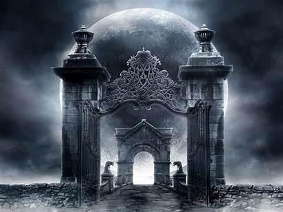 Gothic Wallpapers Dark Horror Fantasy Architecture Gate