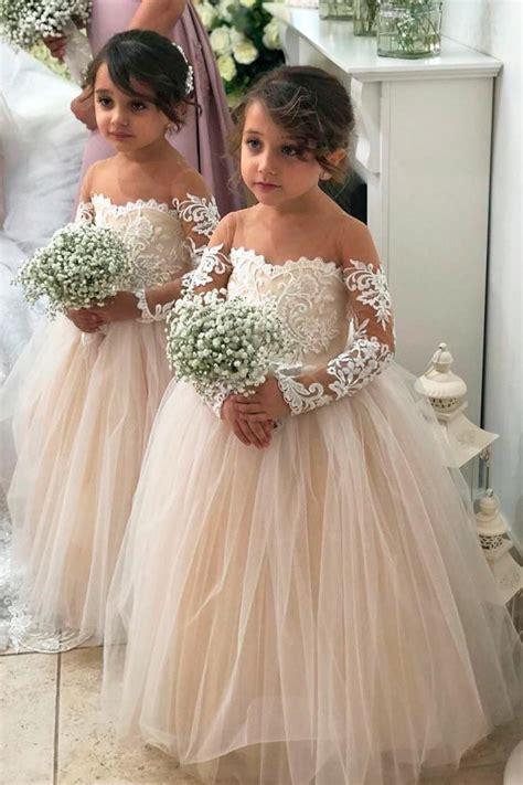 lace flower girl dresses wedding