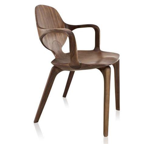 Chaise Design Organique  Avec Accoudoirs  En Bois Massif