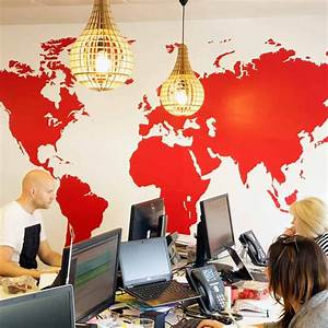 Carte Du Monde Sticker : carte du monde aux couleurs de votre entreprise couleur cmyk ~ Dode.kayakingforconservation.com Idées de Décoration