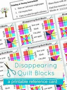 Disappearing Quilt Blocks Printable Card