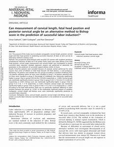 (PDF) Prediction of successful labor induction by ...