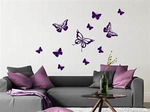 Wandtattoo Kinderzimmer Schmetterlinge : wandtattoo dekorative schmetterlinge von ~ Sanjose-hotels-ca.com Haus und Dekorationen