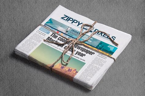 professional newspaper mockups vol  images