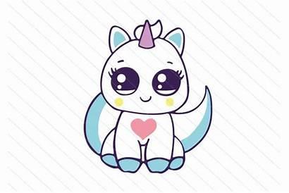 Unicorn Kawaii Cat Clipart Svg Kitty Animal