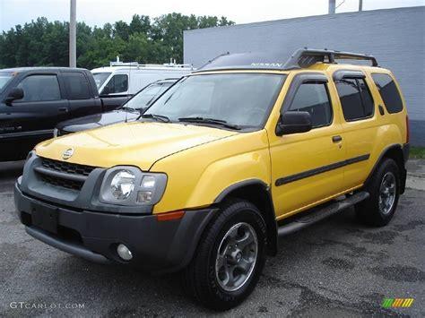 nissan yellow 2003 solar yellow nissan xterra se v6 supercharged 4x4