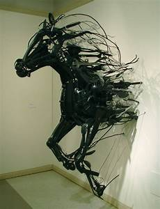 Recycled sculptures by sayaka kajita ganz