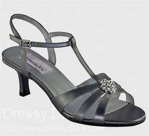 Opal women39s dress shoes and bridesmaid shoes in pewter for Pewter dress shoes for wedding