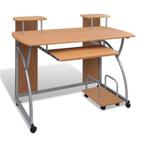 table pour pc de bureau table de bureau brun pour ordinateur avec achat