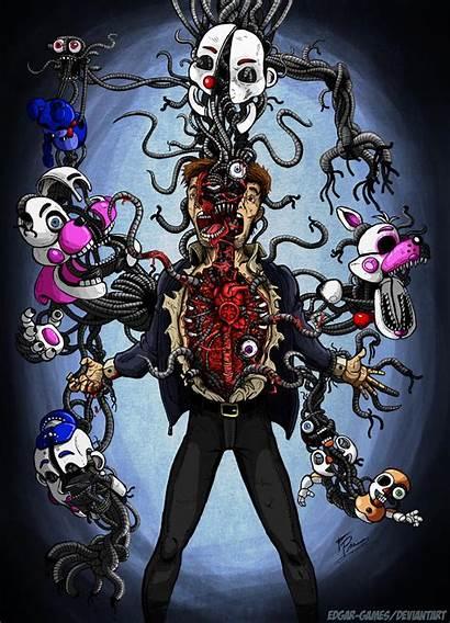 Fnaf Sl Deviantart Every Games Endoskeleton Freddy