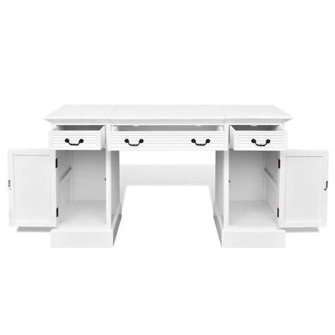 white pedestal desk with drawers vidaxl co uk white double pedestal desk with cabinets