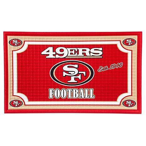 49ers doormat officially licensed nfl embossed door mat 49ers