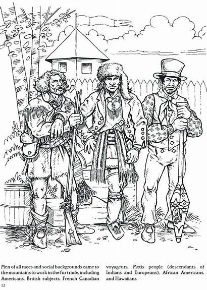 Coloring Dover Fur Trade Mountain Adult Publications
