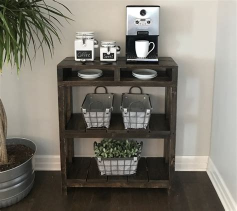 Empty kitchen cabinets, accessible countertops, or mobile bar carts) and fill it with everything you. Daisy-Coffee-Bar-Table-Coffee-Bar-Table-Coffee-Station-Table-Pallet-Table-Wine-Storage-Entry ...
