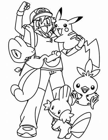 Pokemon Coloring Pages Ashs
