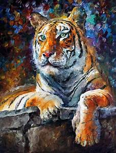 SIBERIAN TIGER 2 — PALETTE KNIFE Oil Painting On Canvas By ...