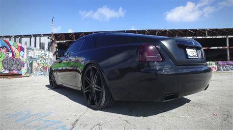 murdered rolls royce wraith blacked out rolls royce wraith on lexani wheels youtube
