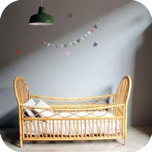 Lit Bebe Rotin : lit b b rotin vintage c302 atelier du petit parc ~ Teatrodelosmanantiales.com Idées de Décoration