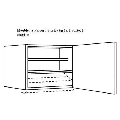 cuisine de groupe meuble haut pour hotte tiroir ou groupe filtrant