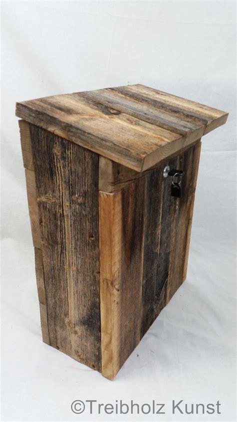 Briefkasten aus Holz rustikal wwwtreibholzbodenseede