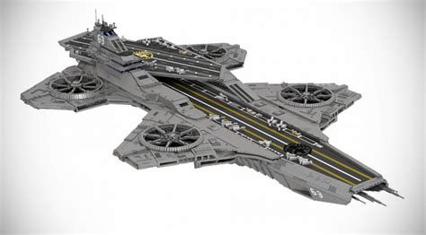 this lego the helicarrier is the result of 22 000 bricks mikeshouts