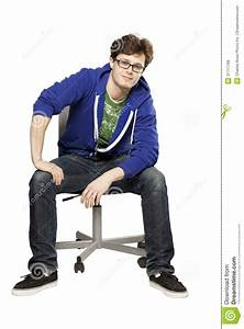 Student Sitting On Chair Relaxed Stock Photo - Image of ...  Sitting