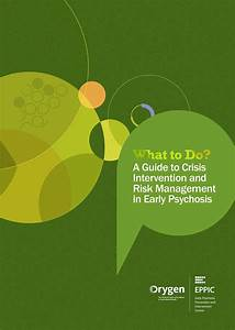 What To Do  A Guide To Crisis Intervention And Risk