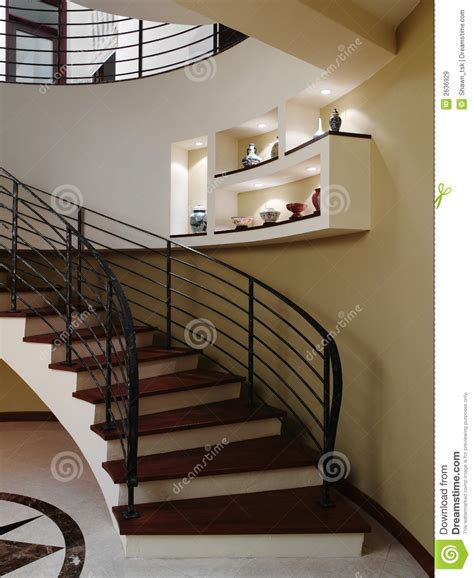 Interior Design  Stairs Stock Image Image Of Ceiling