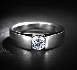 Zircon simulated diamond cheap tacori rings for men for Wedding rings for men cheap