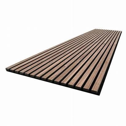 Slat Wood Ceiling Panels Walnut Acoustic Natural