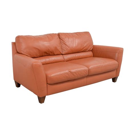 Orange Leather Loveseat by 76 Natuzzi Natuzzi Amalfi Burnt Orange Leather Sofa